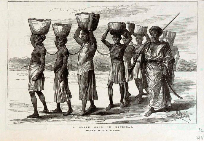 Zanj slave gang in Zanzibar - African History