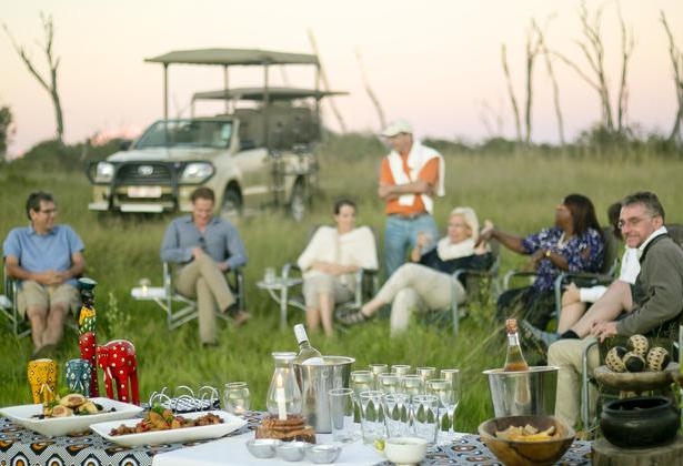 Drinks and snacks in the bush