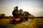 Royal Livingstone Express train in Zambia near Victoria Falls