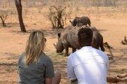 Rhino walk in Zambia