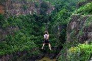 Zipline in  in Victoria Falls