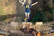 Bungee jumping from the Victoria Falls Bridge