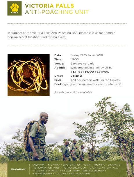 Victoria Falls Anti Poaching Unit fundraiser