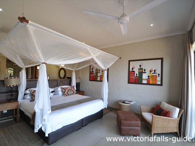 Luxurious rooms with mosquito nets