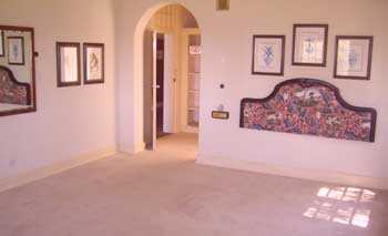 A suite, bare after furniture removal