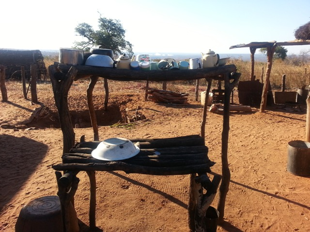 Victorial Falls cultural village tour - the dish rack made by the villagers