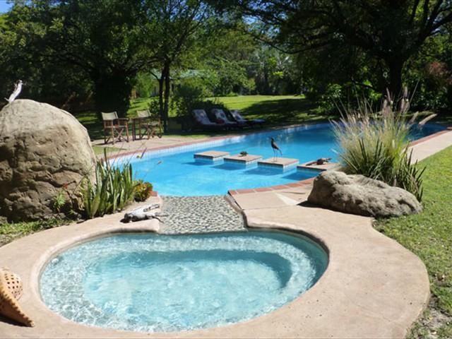 The swimming pool and kiddie pool
