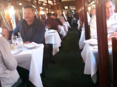 Inside the dinner train