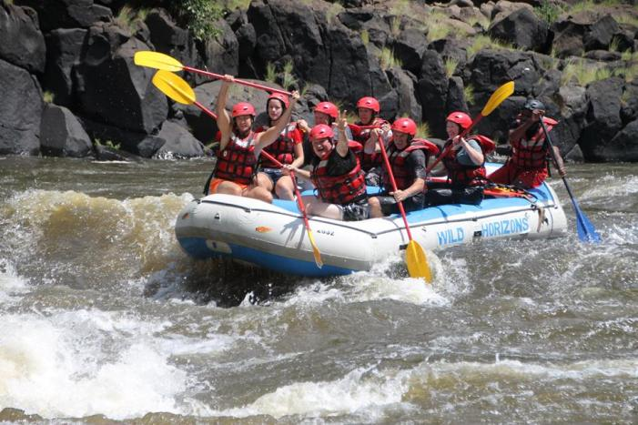 Epic whitewater rafting