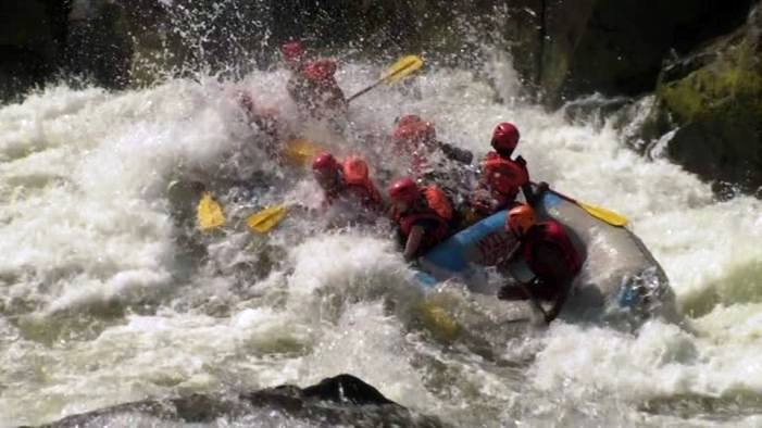 Play in the Zambezi River rapids