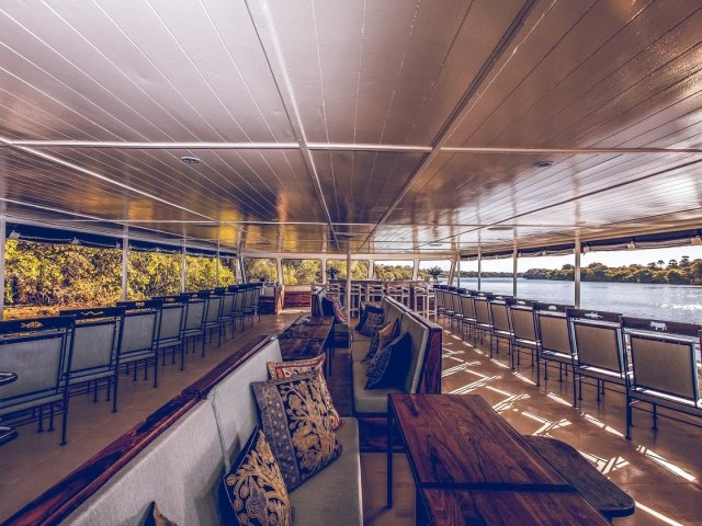 Luxury deck of Zambezi Explorer