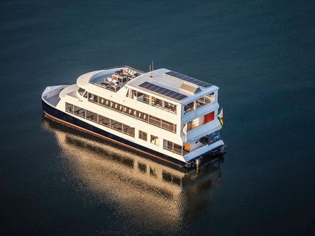 The Zambezi Explorer on the river