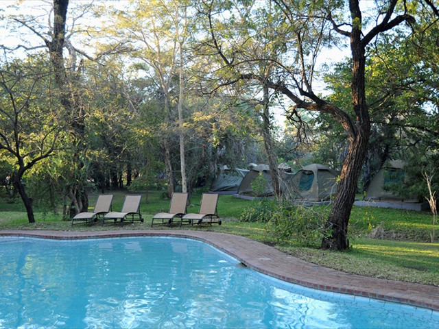Large campsite and pool