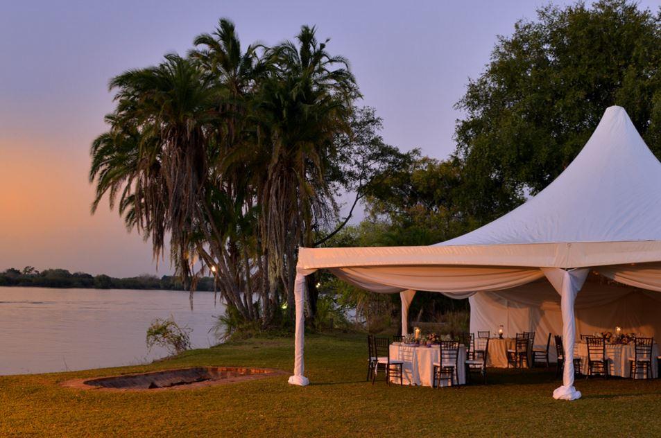 The Zambezi Waterfront valetines Dinner in Victoria Falls, Zimbabwe