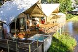 Riverside lodging at Zambezi Sands