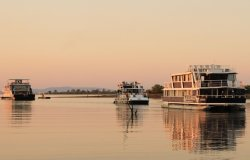 The fleet from Zambezi Cruise Safaris on Lake Kariba