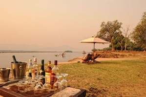 Guests set up on the Zambezi shorelone at Zambezi Life Styles - Mana Pools, Zimbabwe