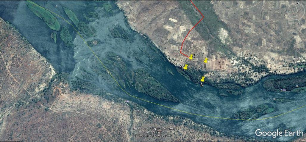 Location of Zambezi River property