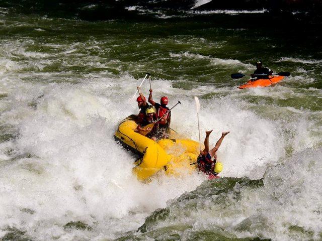 Zambezi Whitewater Festival - rafting competition on the Zambezi River near Victoria Falls