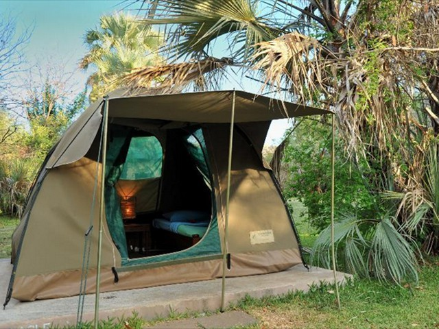 Dome tents with twin bedding