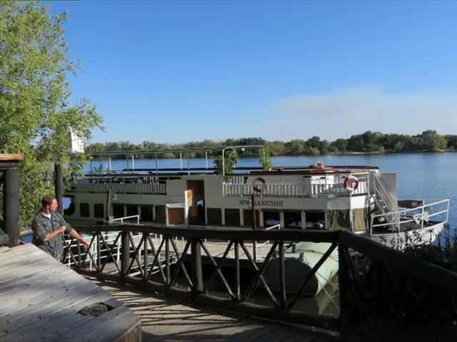 The lodge's own cruise vessel - MV Makumbi
