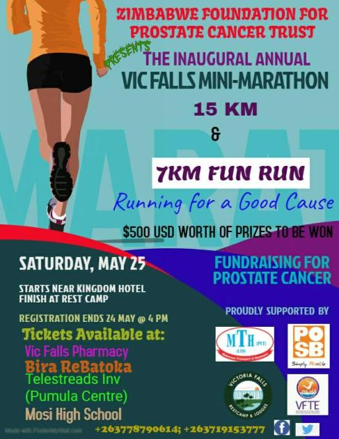 The inaugural Vic Falls Mini-Marathon for a good cause, in Victoria Falls Zimbabwe