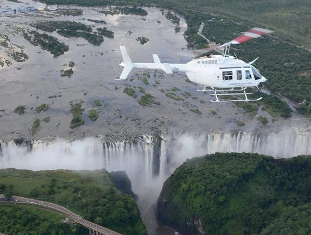Fly over the Falls and gorges