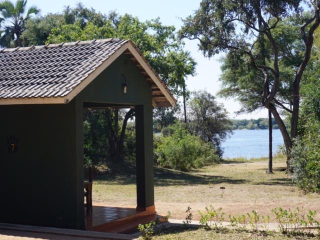 Close to the Zambezi River banks