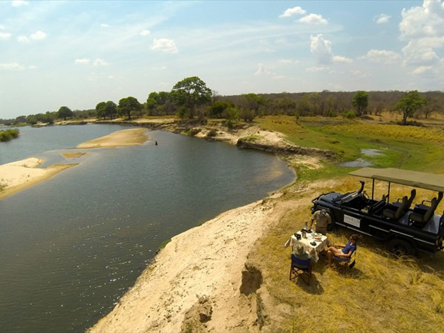 Game drives in the Zambezi National Parks near Victoria Falls, Zimbabwe